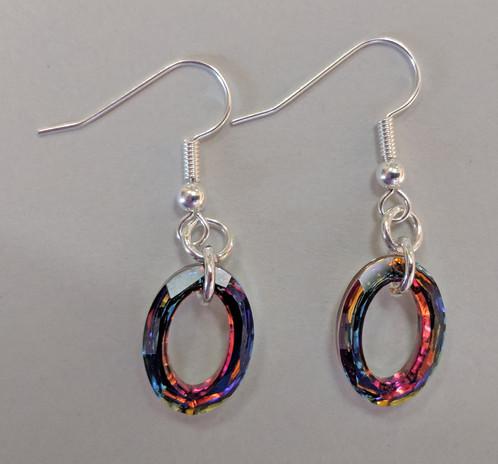 Swarovski Crystal Vitrail Oval Earrings