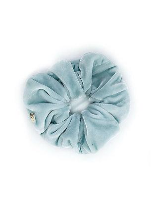 Elástico de Cabelo Scrunchie Veludo Azul