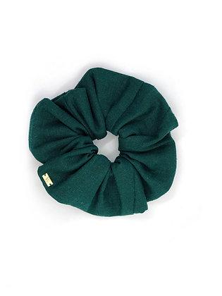 Elástico de Cabelo Scrunchie Linho Verde