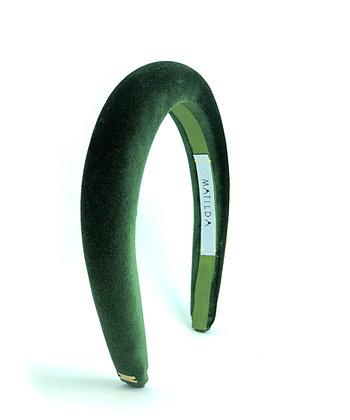 Tiara Acolchoada Popping Verde Musgo