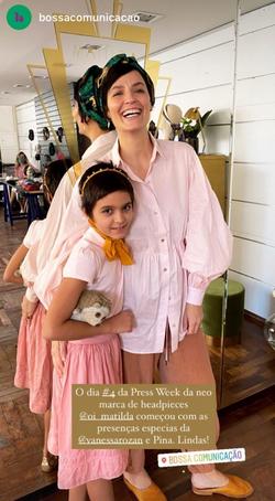 Vanessa Rozan e filha