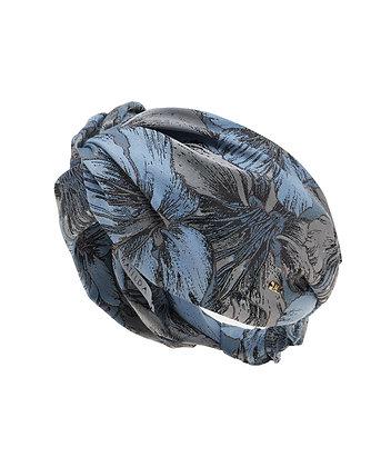 Turbante Faixa Born This Way Jacquard Azul
