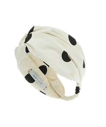Turbante Stronger Off-White Bola Preta