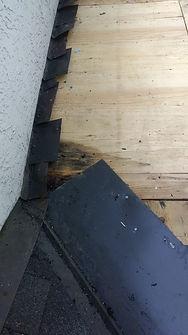 Roof leak damages