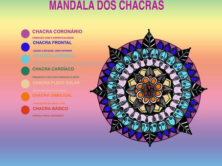 Pôster Mandala dos Chacras GRÁTIS em JPEG para download
