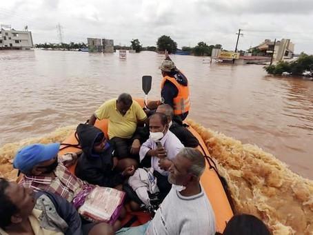 Lluvias monzónicas en India dejan 127 muertos