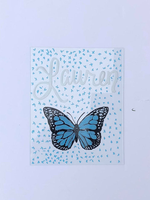 Personalized Butterfly Panel Print