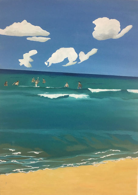 תמונת ים קיץ ילדים חוף