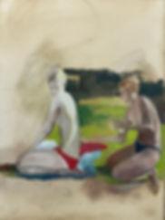 בנות ב Hampstead Heath pond.jpg