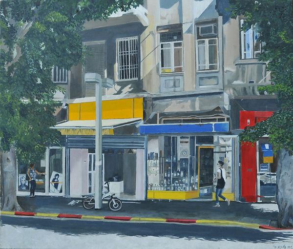 ציור תל אביב עיר לבנה קיץ רחוב אלנבי