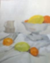קערה אגרטל קטן ופירות הדר.jpg