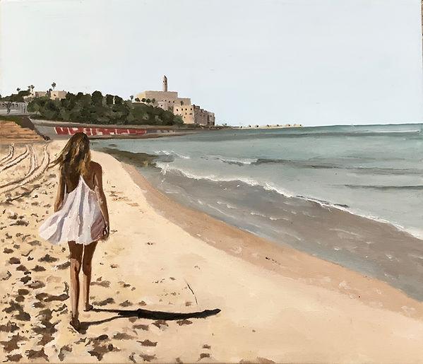 Girl walking towards Yaffo.jpg