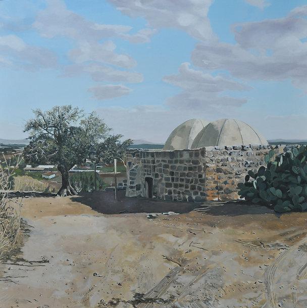 ציור עמק יזרעאל שייח׳ אברייק קיץ