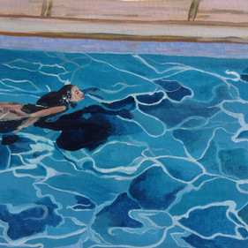 Aimee at Goldberg's pool
