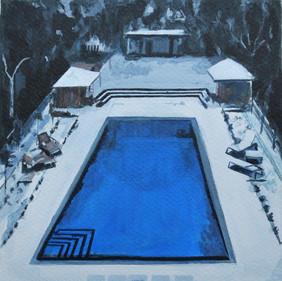 Snowy Swimming pool, London 2008
