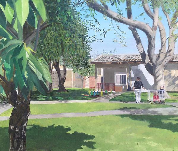 ציור קיבוץ בית העמק עגלול בית תינוקות