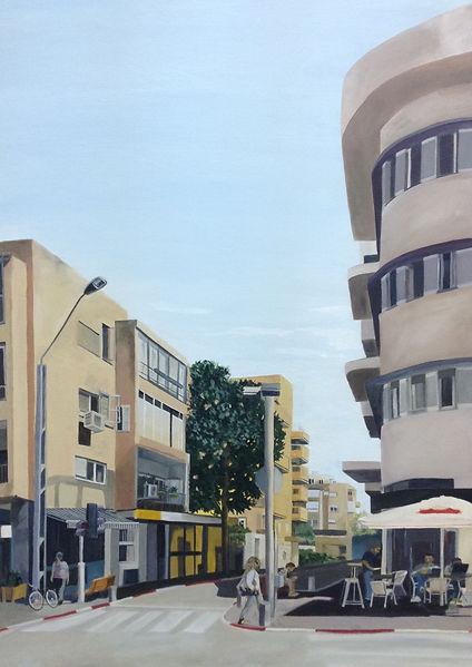 תמונה תל אביב עיר לבנה קיץ רחוב פלורנטין