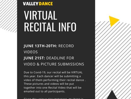 Virtual Recital Info Packet