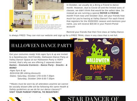 October 2020 Studio Newsletter