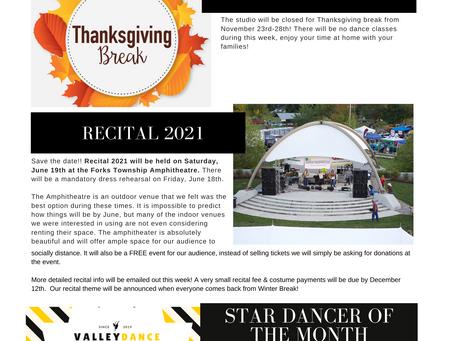 November 2020 Studio Newsletter