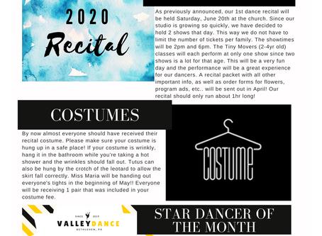 Studio Newsletter- March 2020