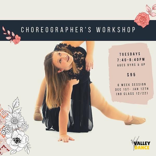 choreogrpaher's workshop 6 week session