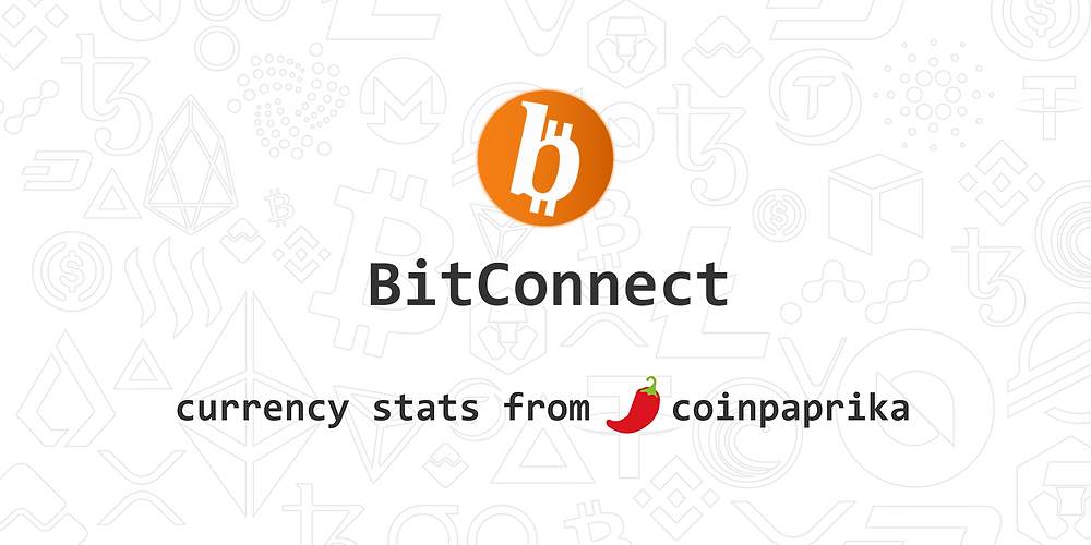 """The bitconnect community has been successful in getting the bitconnectCoin, BCC blockchain market onto CoinPaprika, via PirateCash.NET 🌍   """"BitConnect Coin is an Open-Source, Peer-To-Peer, community driven decentralized cryptocurrency..."""""""