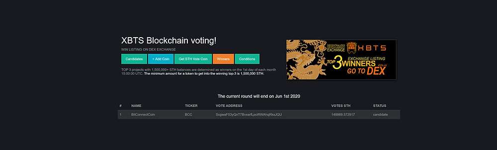 bitconnect Crypto News 📰   BCC Moved Into 1st Place, For The XBTS Exchange Listing Upon The Trading BlockChain, BitShares! 💱   https://vote.xbts.io   The peoples magic internet money is now almost 3.5 years old, etched into cyberspace as legend, all across the 🌍