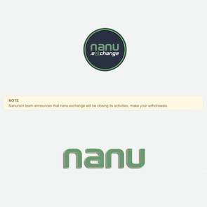 NanuCoin Team Announces That nanu.exchange Will Be Closing Its Activities