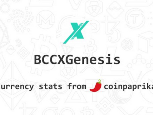 The bitconnectX Genesis BCCX BlockChain On CoinPaprika