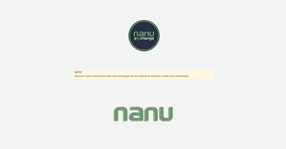 """""""NanuCoin Team Announces That nanu.exchange Will Be Closing Its Activities, Make Your Withdrawals""""   Please make sure you withdraw your BCCX from https://nanu.exchange as soon as possible 💚   bitconnectX Trade Alternatives: https://PirateCash.Net , https://XBTS.io & https://Unnamed.Exchange 💱"""