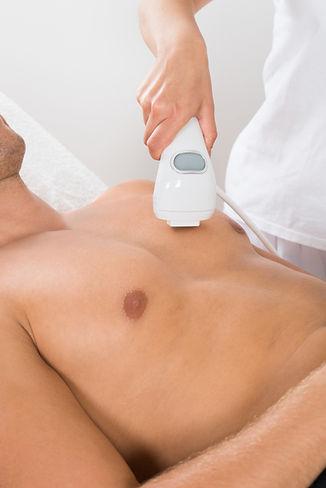 Female Beautician Giving Laser Epilation