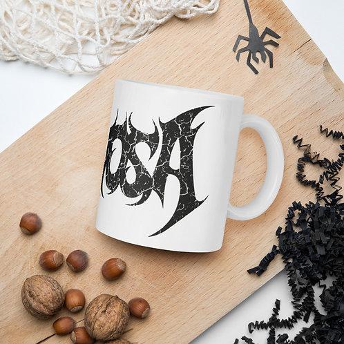 Caneca Nervosa logo preto (mug black logo)