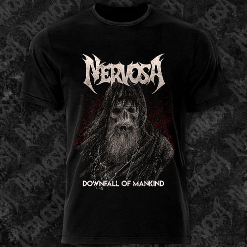 CAMISETA DOWNFALL OF MANKIND (FRENTE E VERSO)