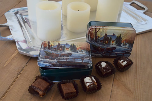 Heading Home -2PC Gift Wrapped Set -12 Caramel Brownies, 12 Marshmallow Brownies