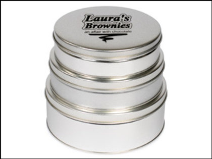 3 Tins of Caramel Brownies, Lemon Bars and Biscotti