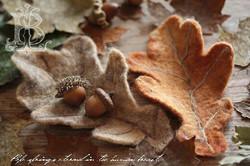 どんぐり葉のコースター