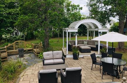 Backyard Patio Tattingstone Inn