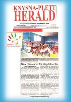 """Pressebericht """"Knysna-Plett Herald"""""""