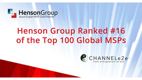 Henson Group Ranked #16 of the Top 100 Global MSPs