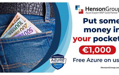 €1,000 in Azure Credits
