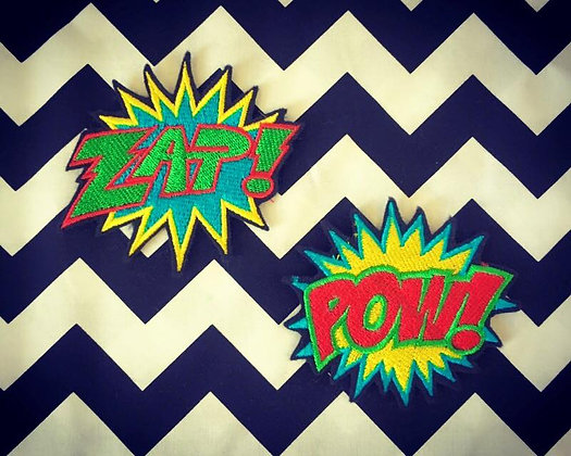 Comic book word Patch (one supplied)