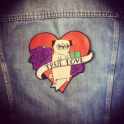 Pug Love Back Patch