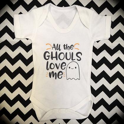 All the Ghouls Halloween Baby Vest