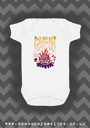 We are the Granddaughters of the Witches Baby Vest