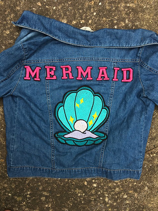 Mermaid Back Patch (letters only)