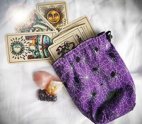 Purple Spider Tarot Bag