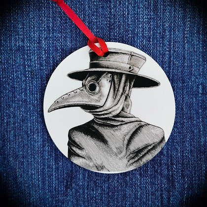 Plague Doctor 2020 xmas Hanging Decoration