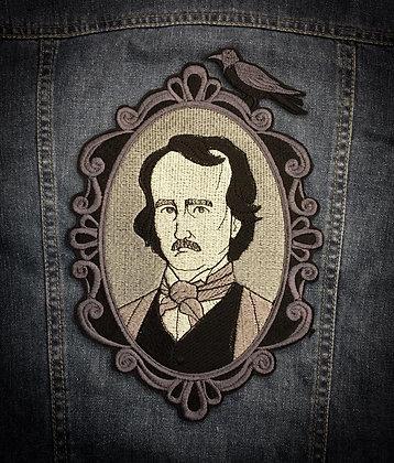 Edgar Allen Poe Back Patch