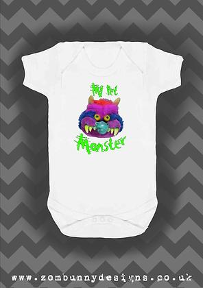 My pet monster baby vest
